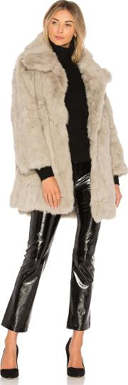Textured Rabbit Fur Coat