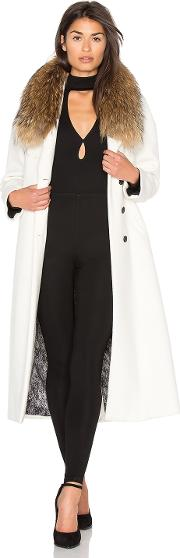 Chanelle Coat With Asiatic Raccoon Fur Trim