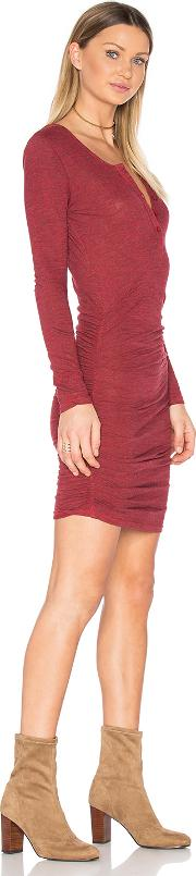 Ruched Henley Dress