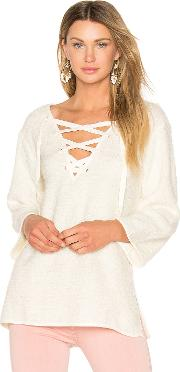 Larch Lace Up Top