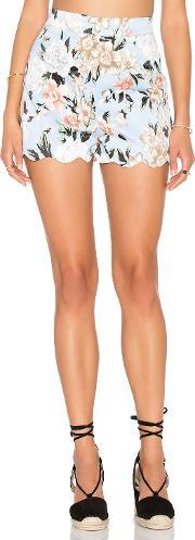 Scalloped Fitted Short