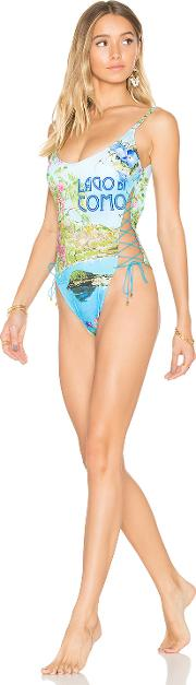 Side Lace Up One Piece