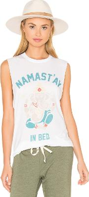 Namastay In Bed Muscle Tee