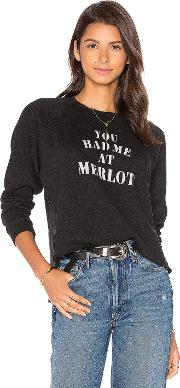 You Had Me At Merlot Starria Pullover