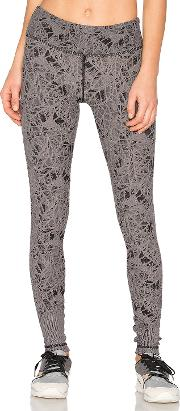 Leaf Jacquard Leggings