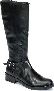 Hivane Women's High Boots In Black
