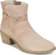 Ikita Women's Low Ankle Boots In Pink