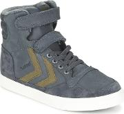 Stadil Oiled High Jr Girls's Shoes High Top Trainers In Grey