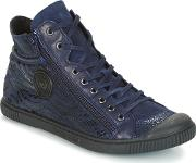 Bono Women's Shoes High Top Trainers In Blue