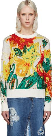 Multicolor Floral Knit Sweater