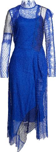 3.1 Phillip Lim Dress With Lace And Mesh Overlay