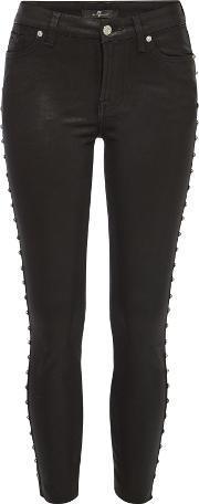 Ankle Skinny Jeans With Studs