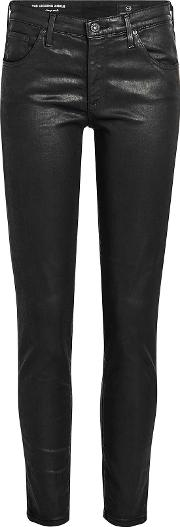 Coated Legging Ankle Skinny Jeans