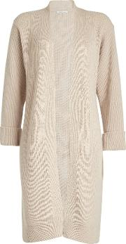 Ribbed Cardigan With Wool And Cashmere