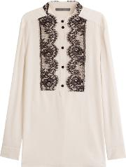 Silk Tunic With Lace