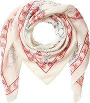 Explorer Printed Scarf With Cotton