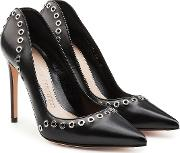 Leather Pumps With Eyelets