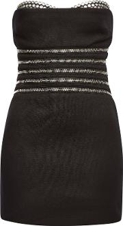 Bustier Dress With Cotton And Zippers