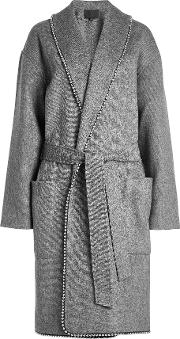 Coat With Wool And Bead Embellishment
