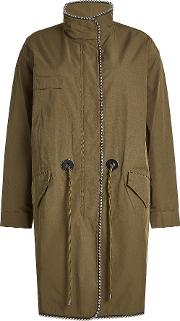 Embellished Parka With Cotton