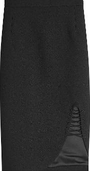 Pencil Skirt With Lace Up Detail