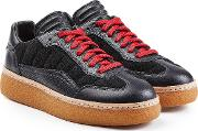 Sneakers With Leather And Suede