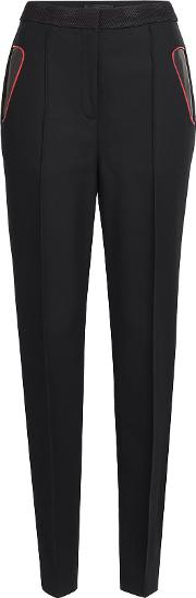 Tailored Pants With Leather