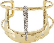 10kt Gold Cuff Bracelet With Crystals