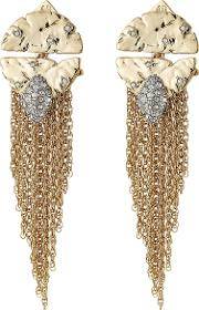10kt Gold Earrings With Crystal Embellishment