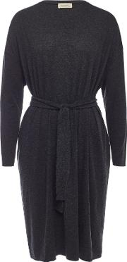 Belted Dress With Cotton