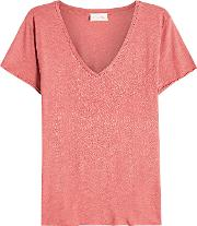 V Neck T Shirt With Cotton
