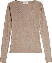 V Neck Top With Cotton