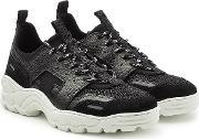 Running Sneakers In Neoprene, Suede, Leather And Mesh