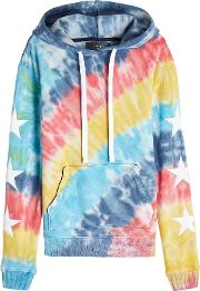 Rainbow Star Printed Cotton Hoody