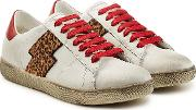 Viper Leopard Low Leather Sneakers