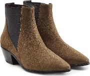 Anja Suede Ankle Boots