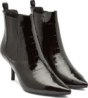 Stevie Patent Leather Ankle Boots