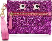 Circulus Eyes Small Glitter Leather Pouch
