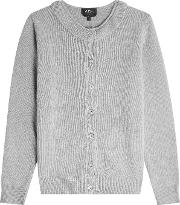 A.p.c. Cardigan With Wool, Cashmere And Superkid Mohair