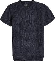 Dorothee Short Sleeve Pullover With Mohair