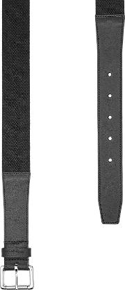 Fabric Belt With Leather