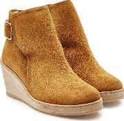 Virginie Suede Ankle Boots With Faux Fur