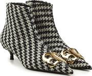 Houndstooth Booties