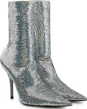 Knife Sequin Ankle Boots