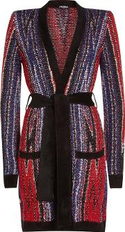 Cardigan Ceinture With Mohair And Wool