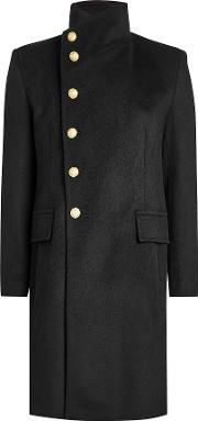 Cashmere Coat With Embossed Buttons