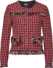 Printed Jacket With Cotton And Wool
