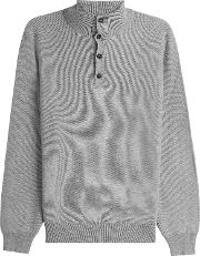Cashmere Turtleneck Pullover With Buttons