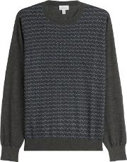Printed Turtleneck Pullover With Cashmere And Silk
