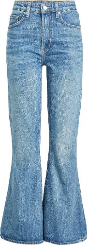 Belle Cropped And Flared Jeans
